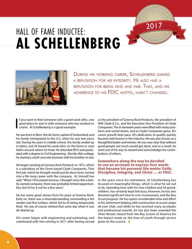 Al Schellenberg 2017 Hall of Fame Inductee