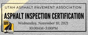 asphalt inspection cert 211110